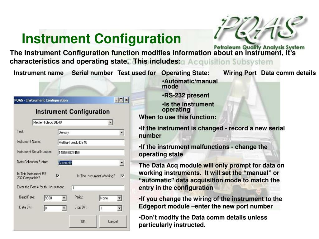 Instrument Configuration