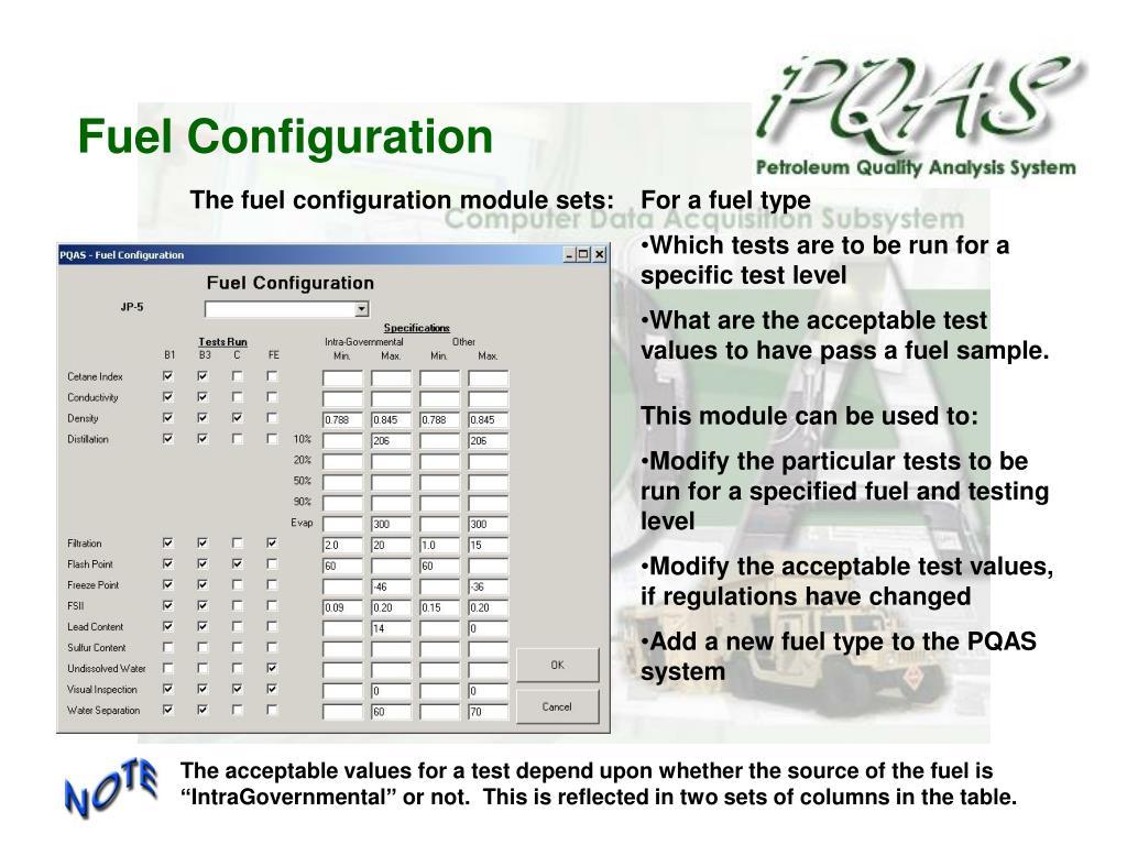 Fuel Configuration