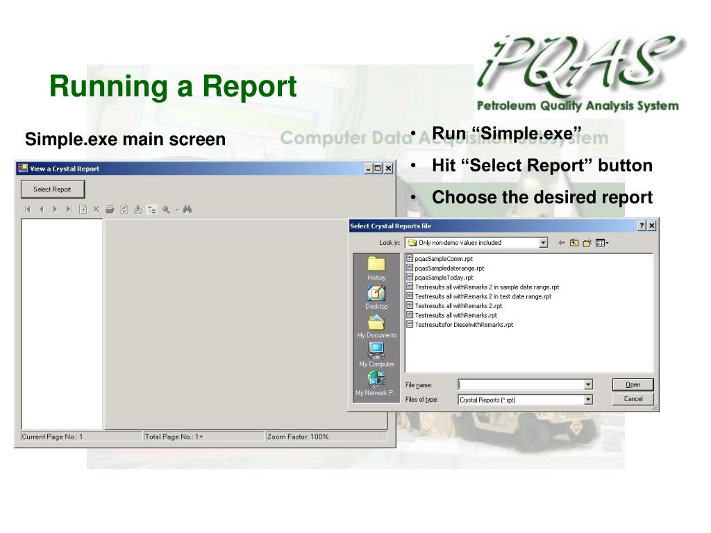 Running a Report