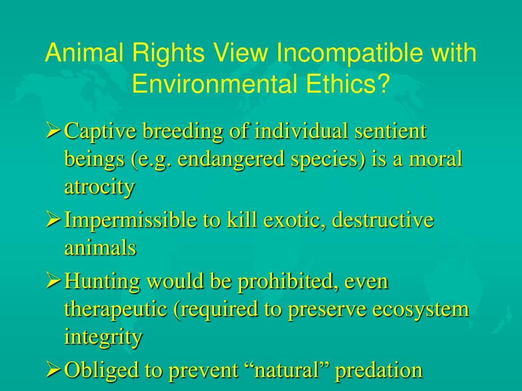 Animal Rights View Incompatible with Environmental Ethics?