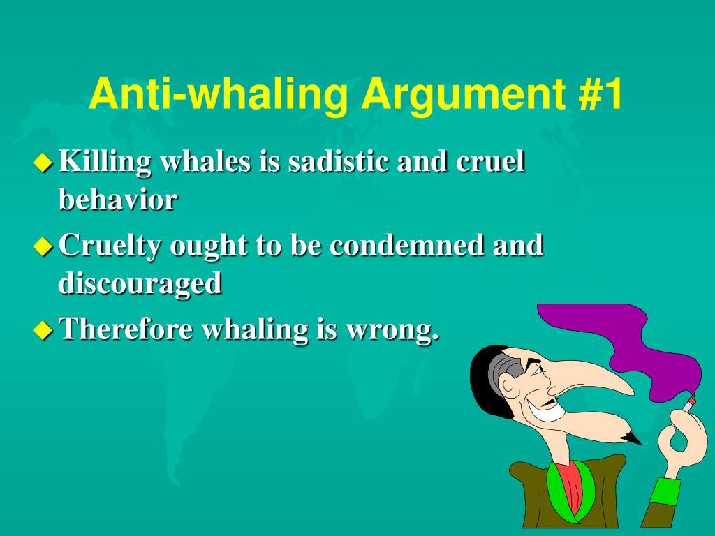 Anti-whaling Argument #1