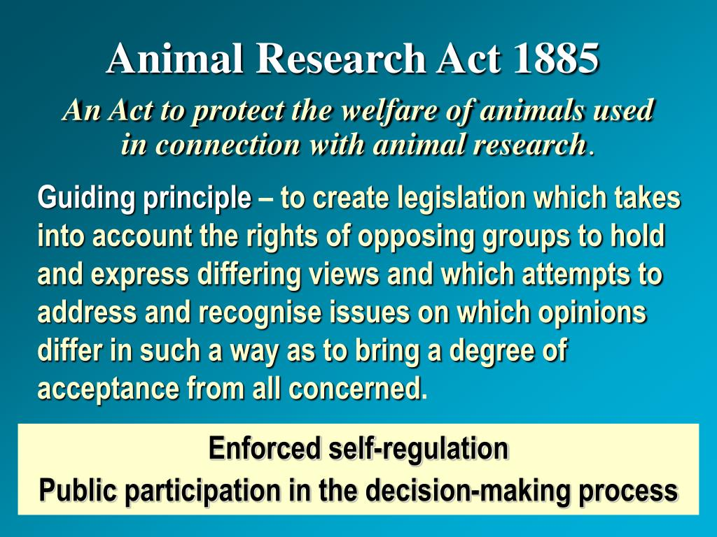 Animal Research Act 1885