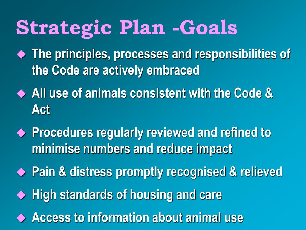 Strategic Plan -Goals