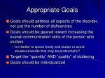 appropriate goals