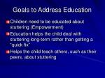 goals to address education