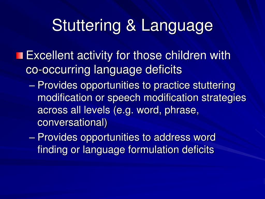 Stuttering & Language