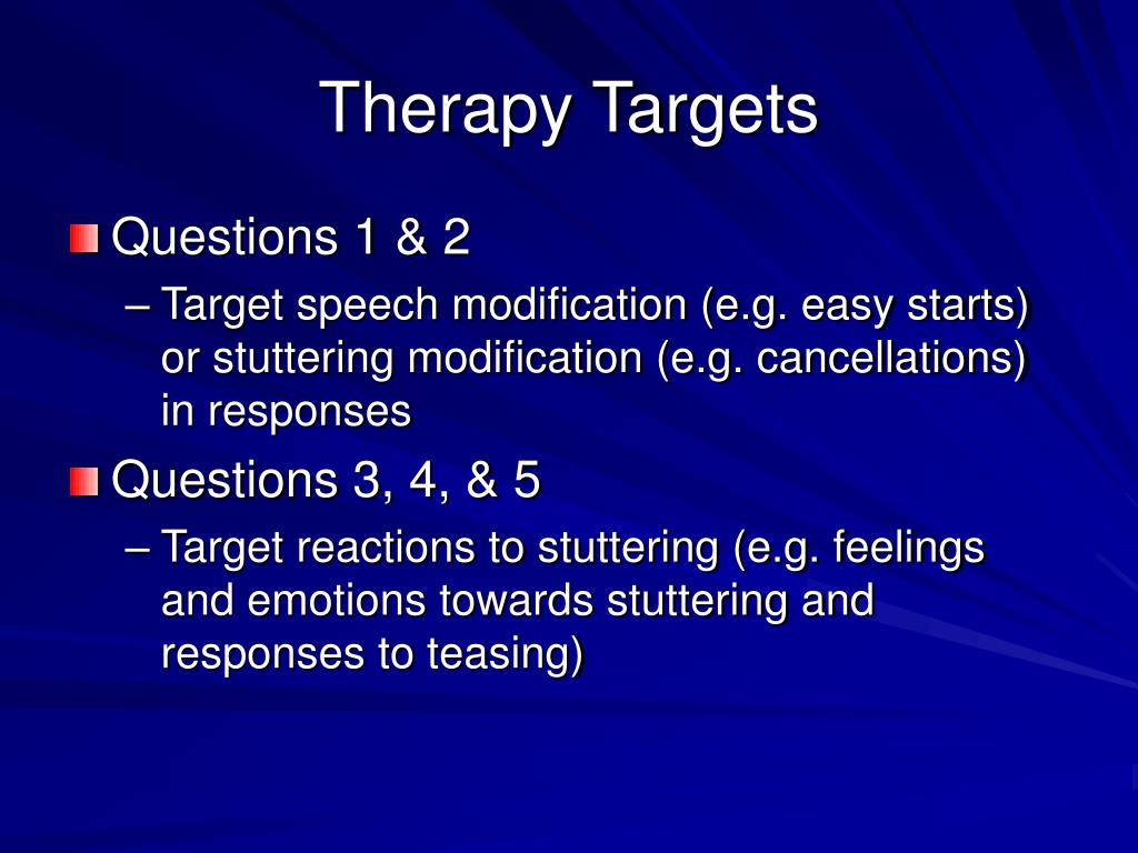 Therapy Targets