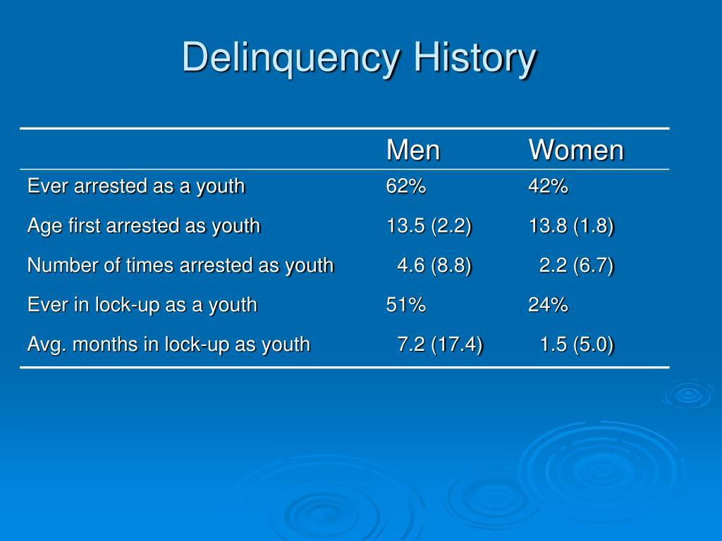 Delinquency History