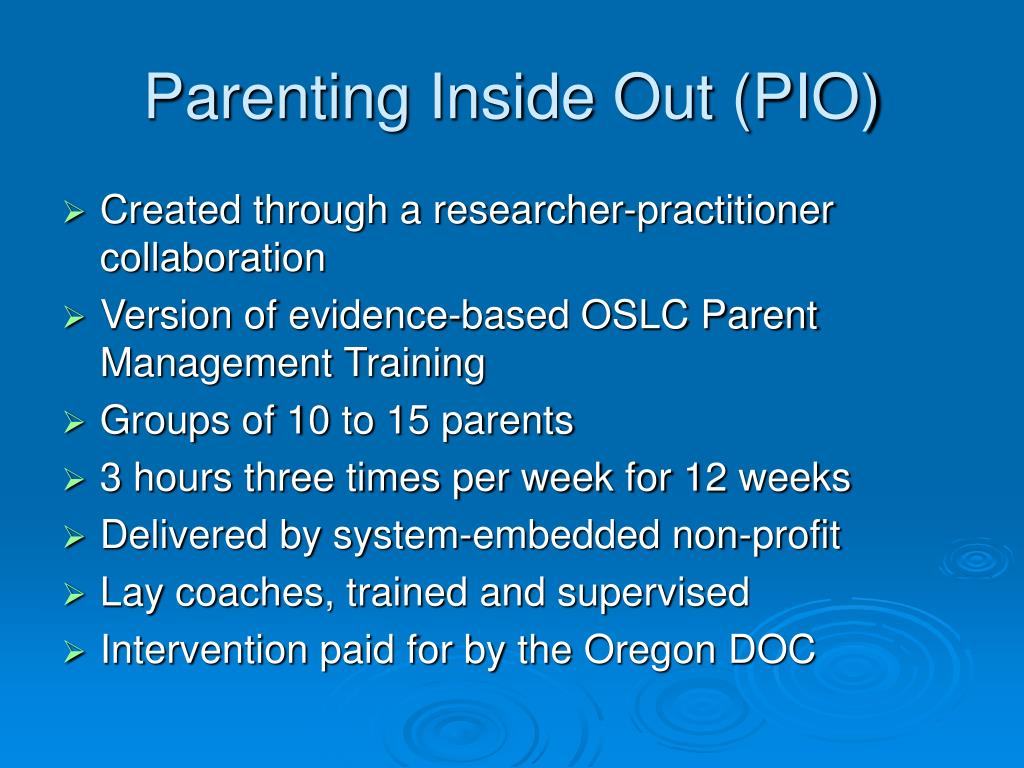 Parenting Inside Out (PIO)