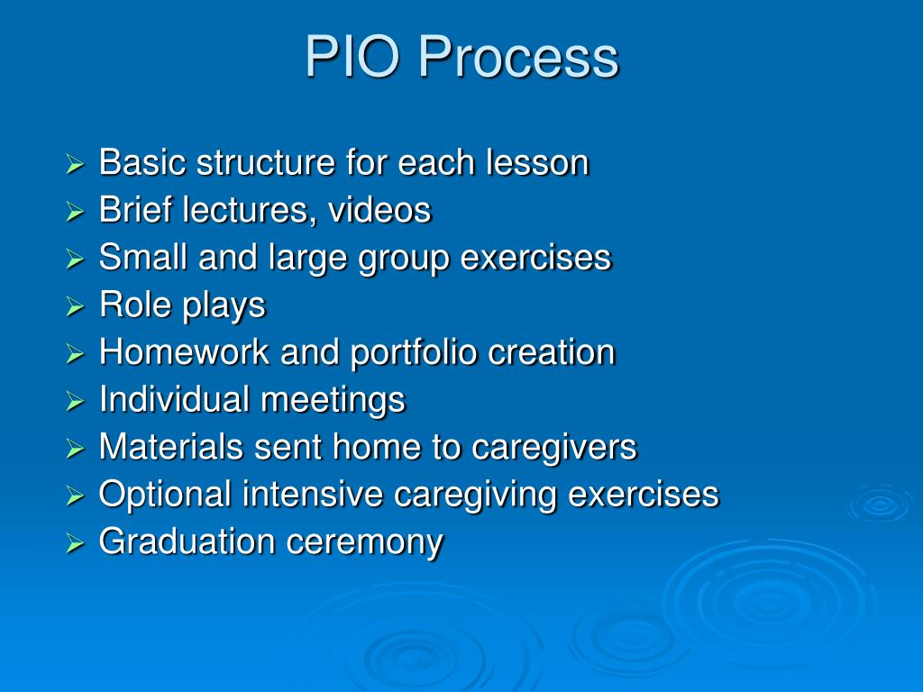 PIO Process