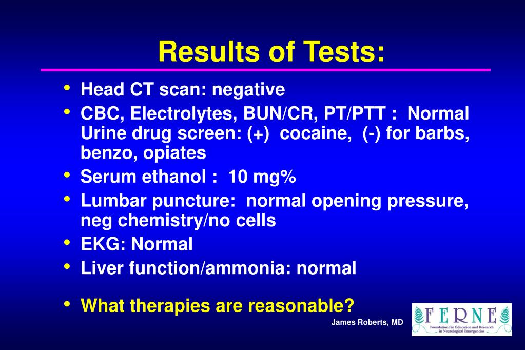 Results of Tests: