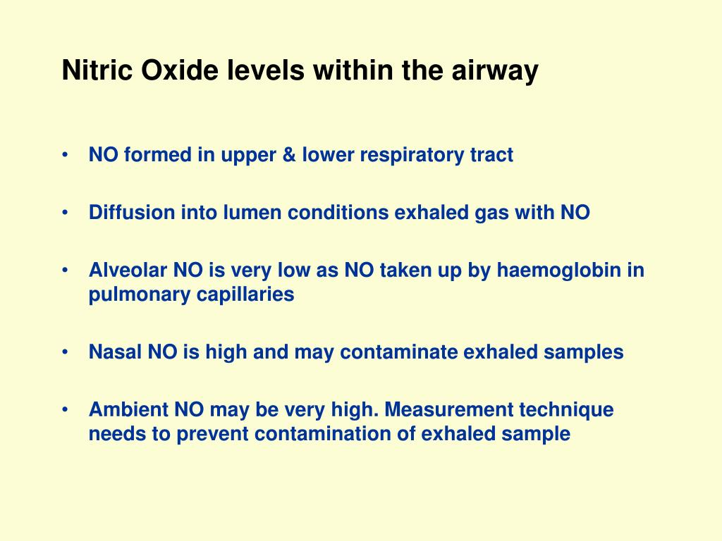 Nitric Oxide levels within the airway