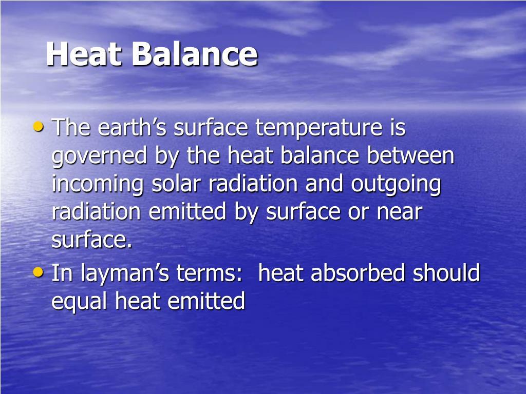 Heat Balance