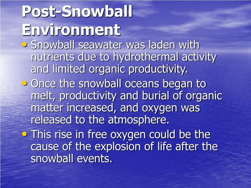 Post-Snowball Environment