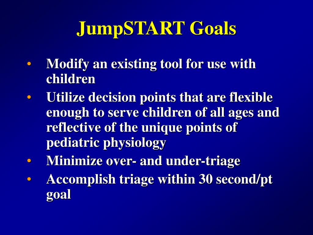 JumpSTART Goals