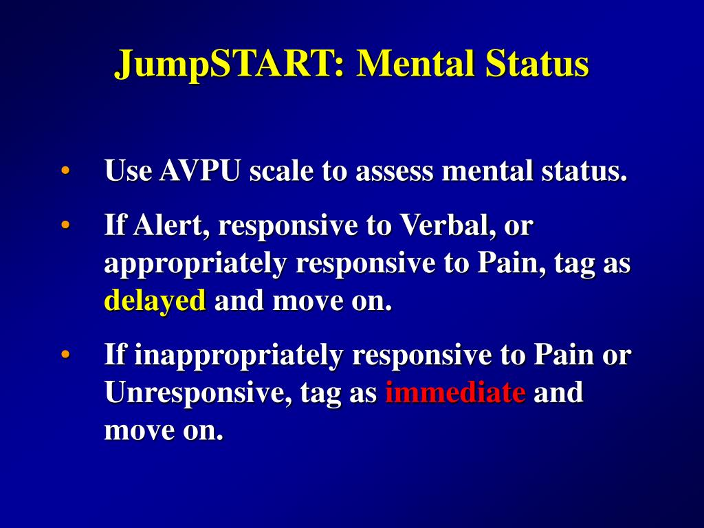 JumpSTART: Mental Status