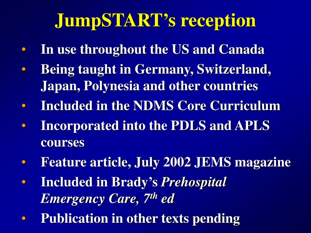 JumpSTART's reception