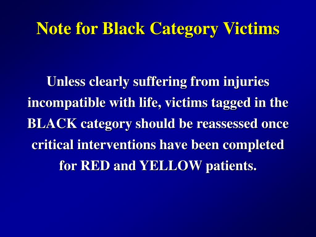 Note for Black Category Victims