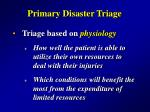 primary disaster triage29