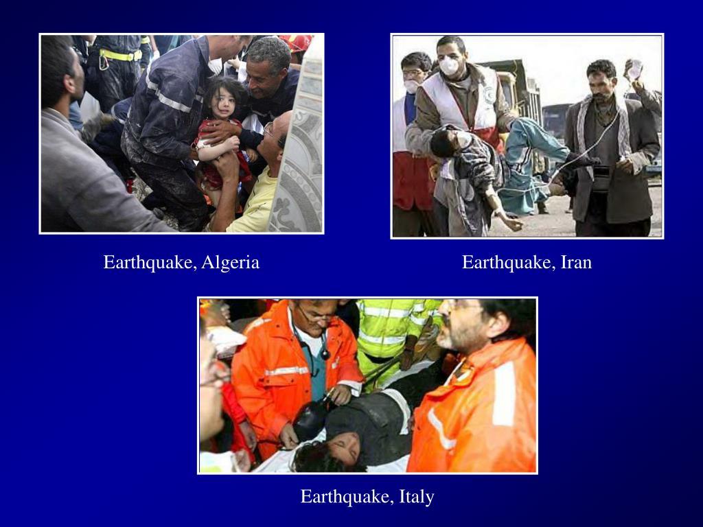 Earthquake, Algeria
