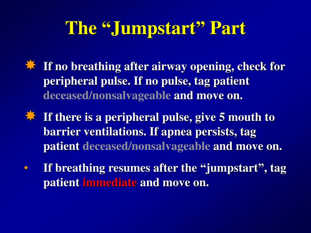 "The ""Jumpstart"" Part"