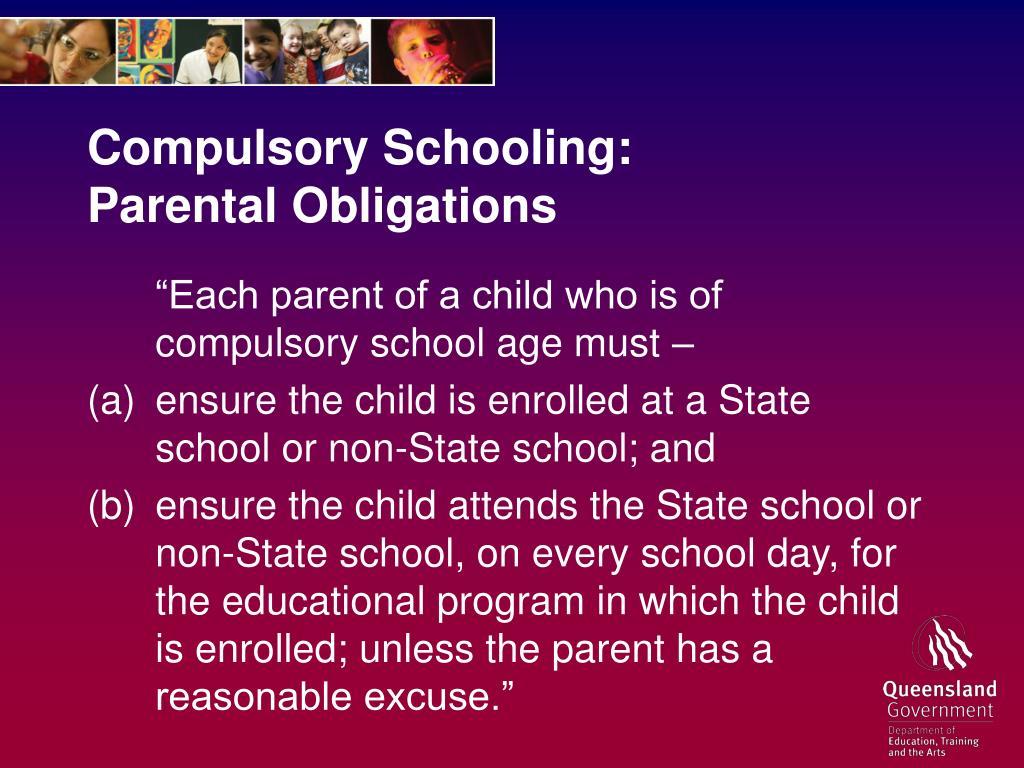 Compulsory Schooling: