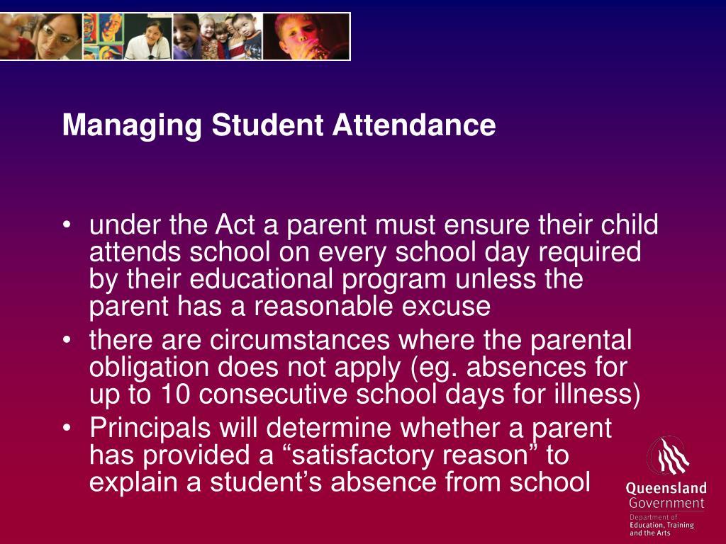 Managing Student Attendance
