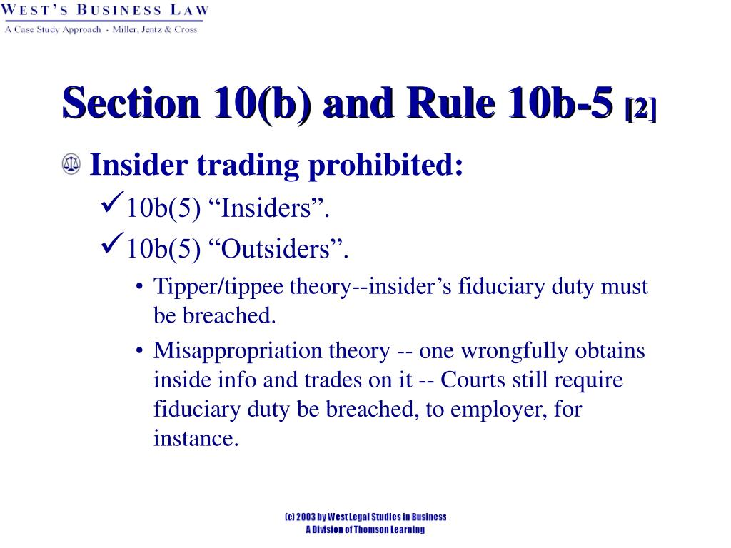 Section 10(b) and Rule 10b-5