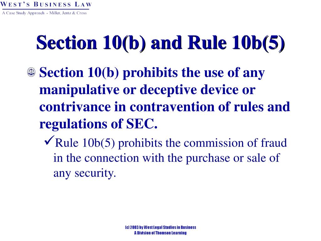 Section 10(b) and Rule 10b(5)