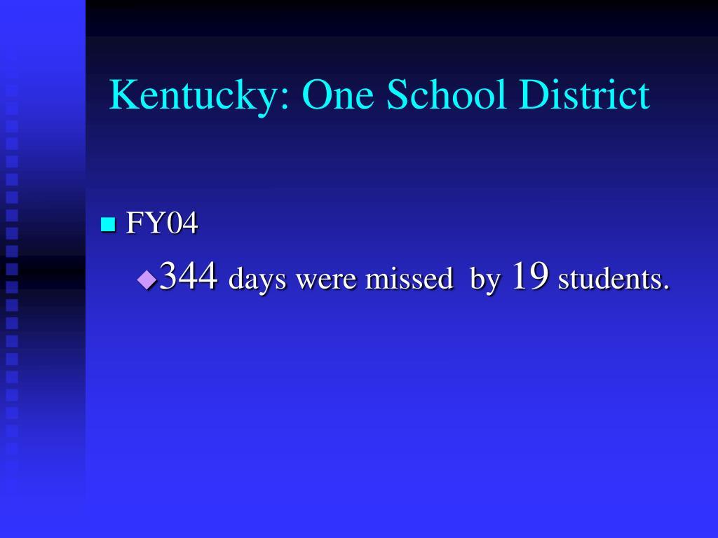 Kentucky: One School District