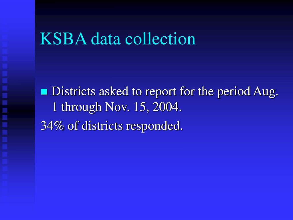 KSBA data collection