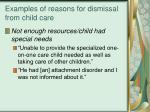 examples of reasons for dismissal from child care19