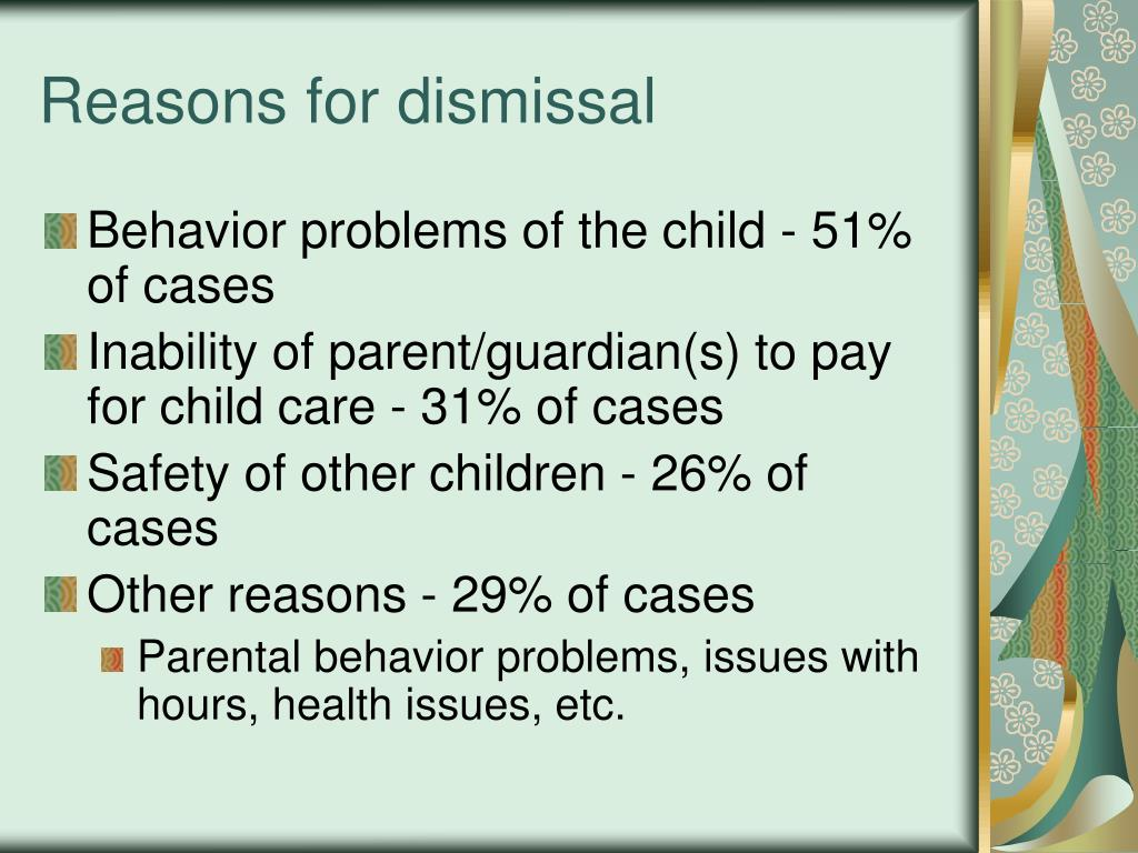 Reasons for dismissal