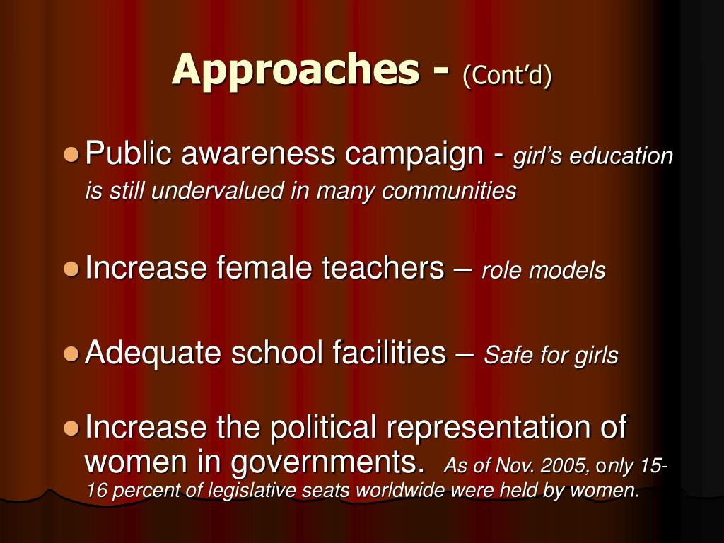 Approaches -
