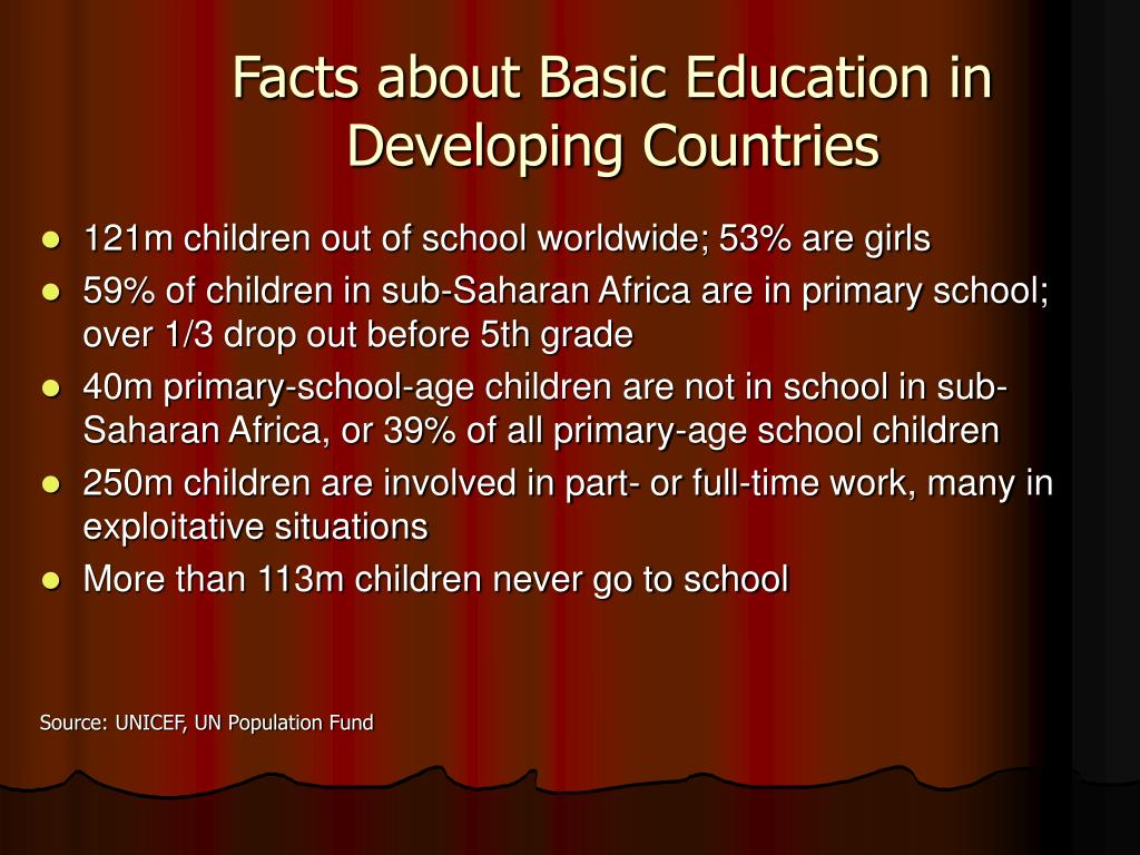 Facts about Basic Education in Developing Countries
