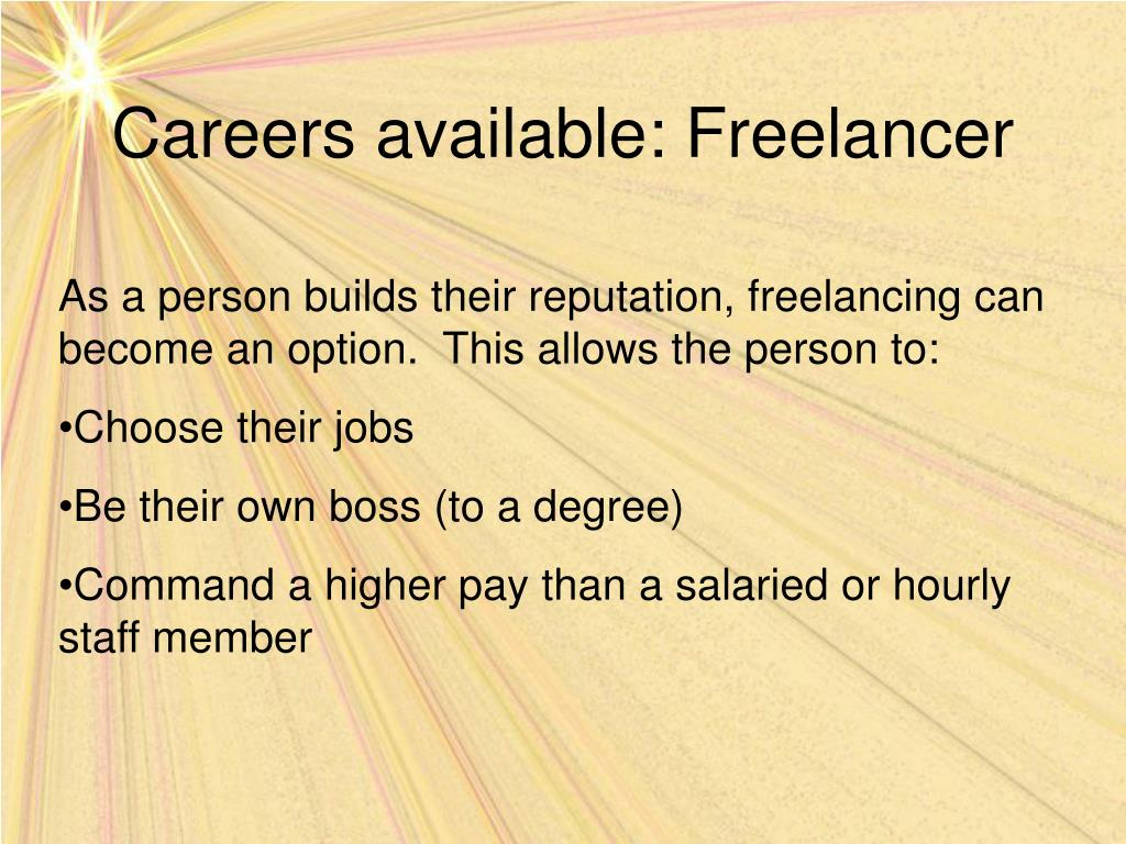 Careers available: Freelancer