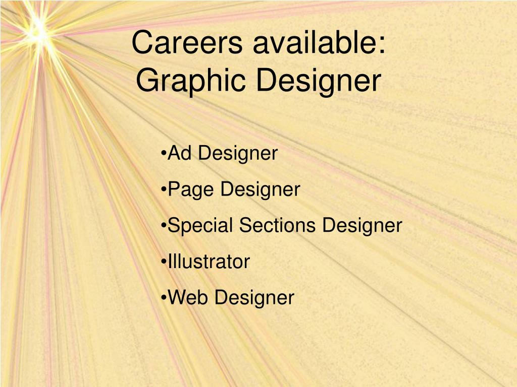 Careers available:
