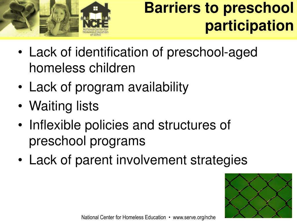 Barriers to preschool participation