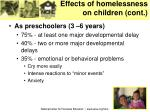 effects of homelessness on children cont10