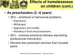 effects of homelessness on children cont11