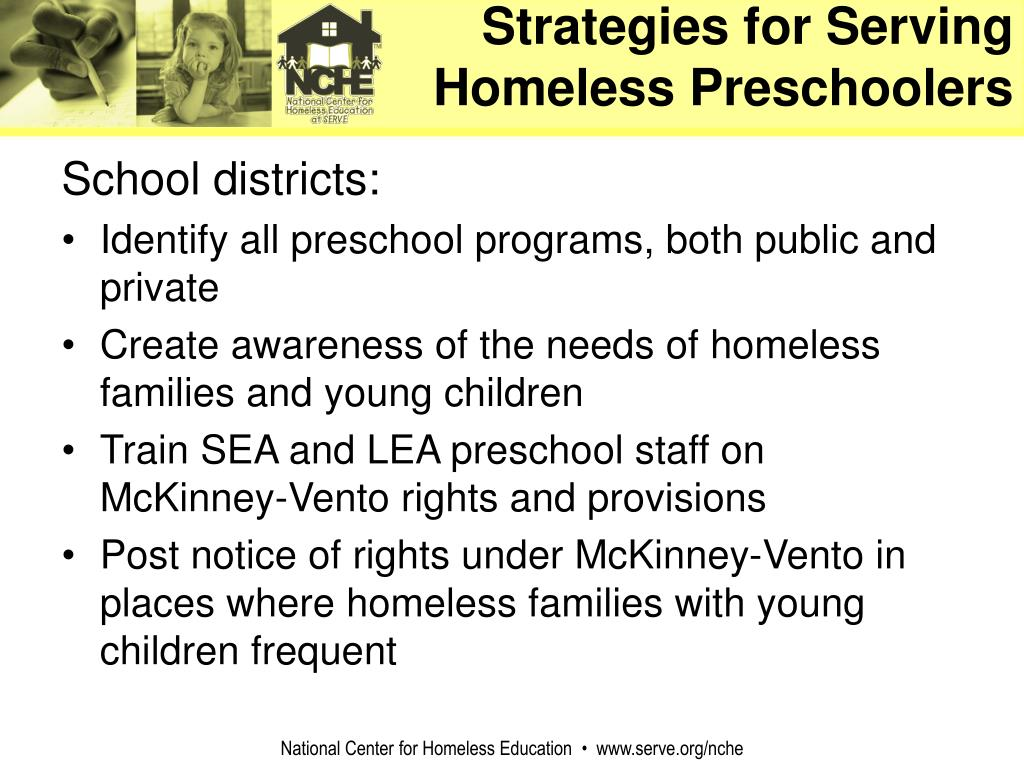 Strategies for Serving Homeless Preschoolers