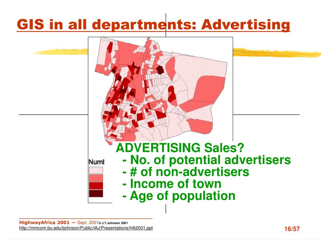 GIS in all departments: Advertising