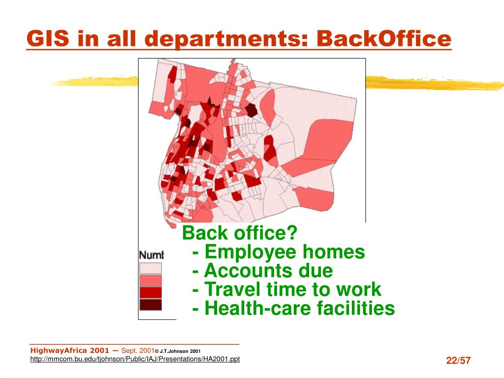 GIS in all departments: BackOffice