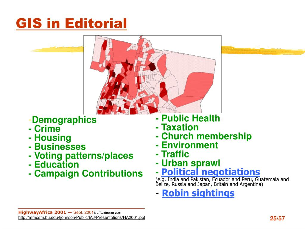 GIS in Editorial