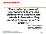 journalism is