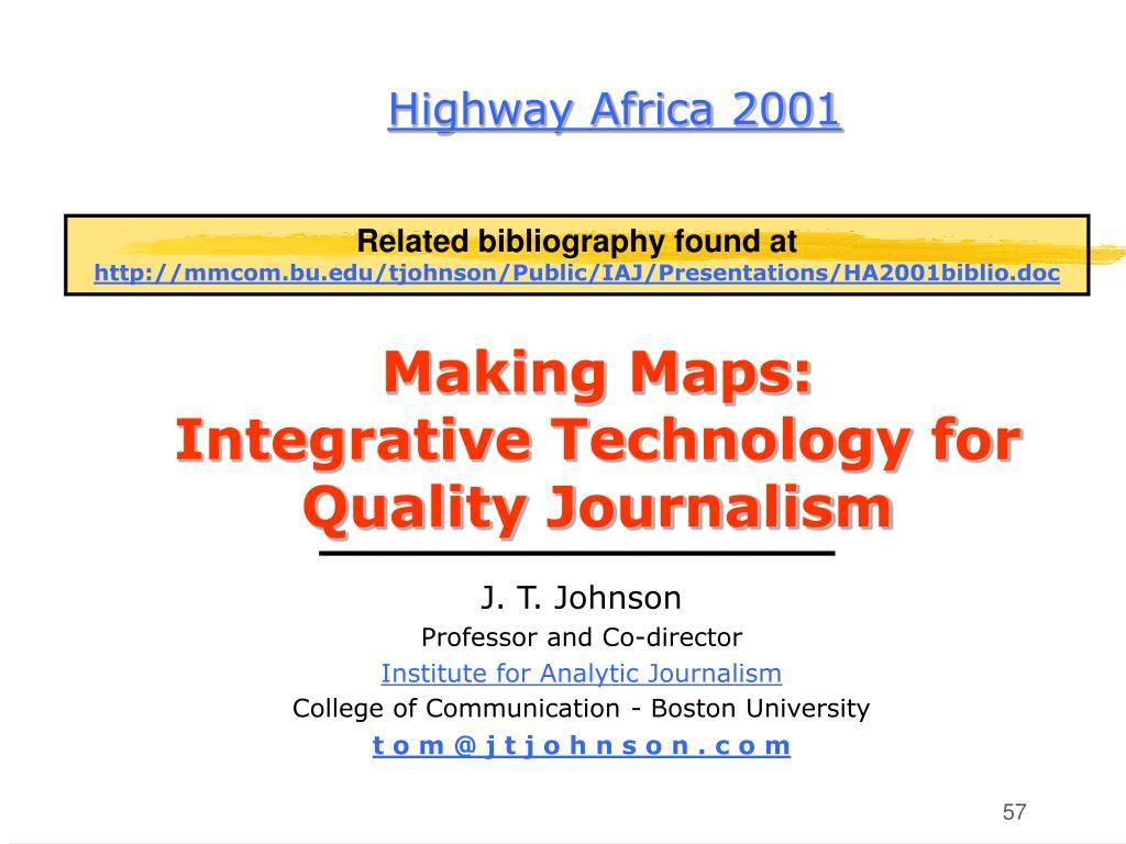Highway Africa 2001