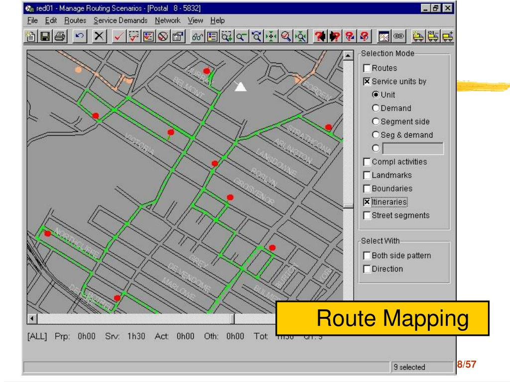 Route mapping-DeliveryRoute