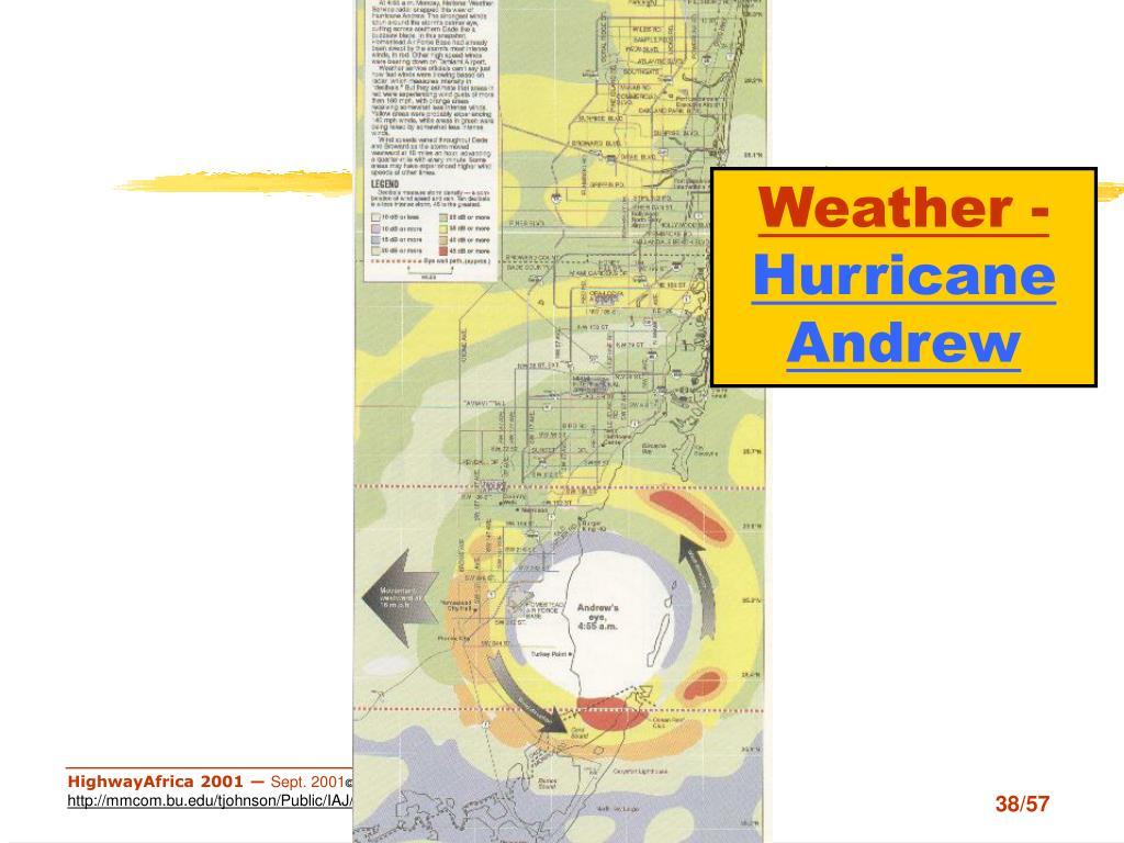 Weather-Hurricane Andrew