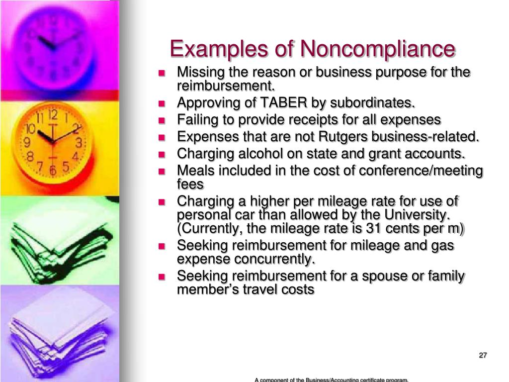 Examples of Noncompliance