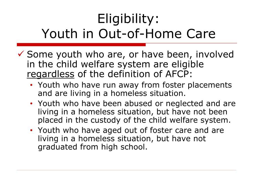 Eligibility:
